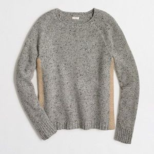 J. Crew Marbled Gray Sweater w/ Metallic Stripe